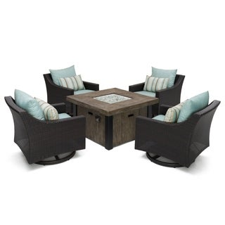 RST Brands Deco 5-piece Motion Fire Chat Set in Bliss Blue