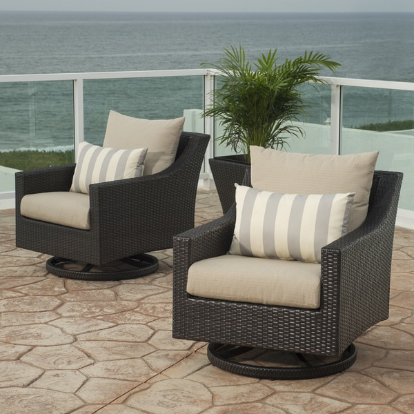 Shop Rst Brands Deco Motion Club Chairs In Slate Grey
