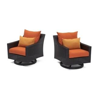 RST Brands Deco Motion Club Chairs in Tikka Orange