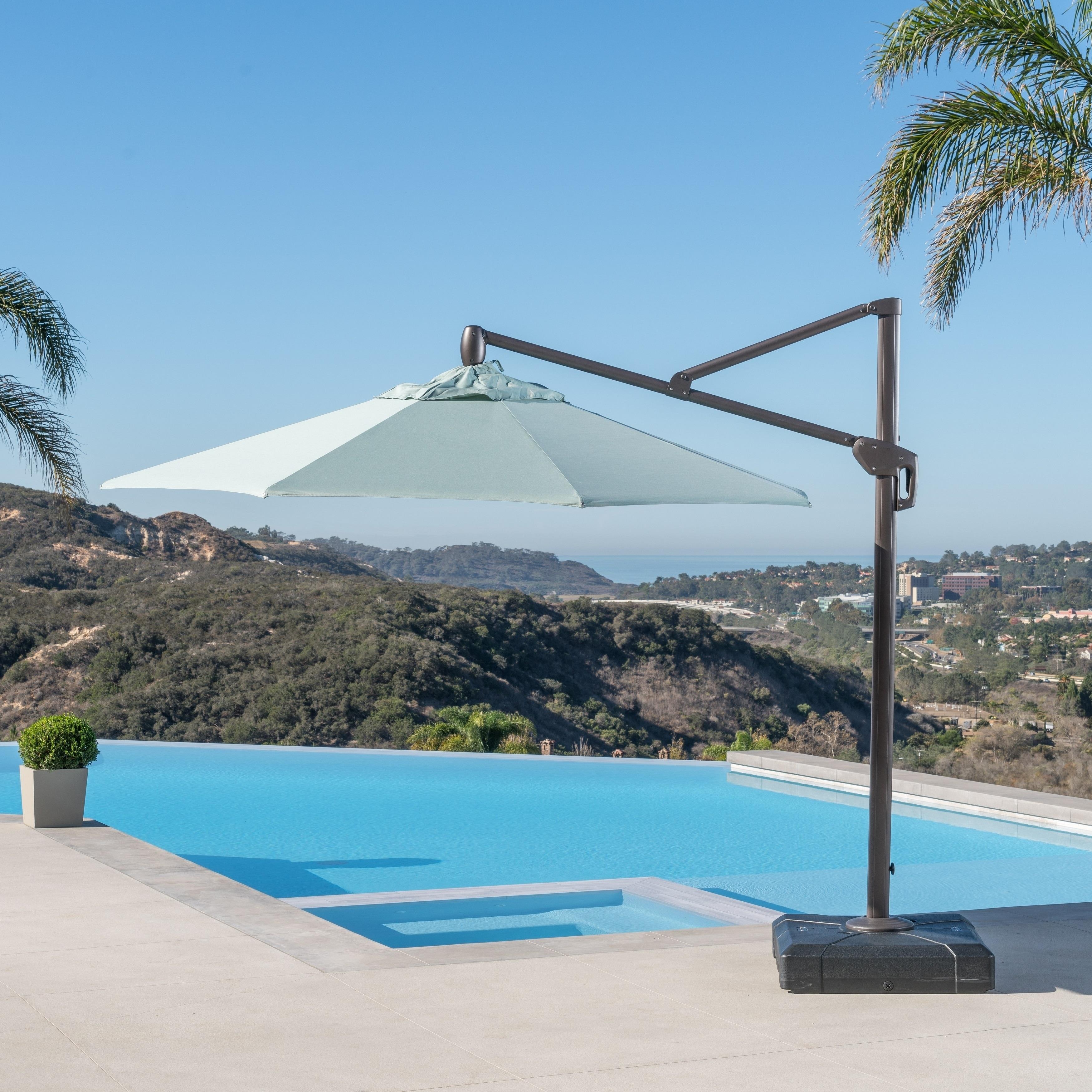 RST Brands Modular Outdoor 10 Foot Round Umbrella In Bliss Blue