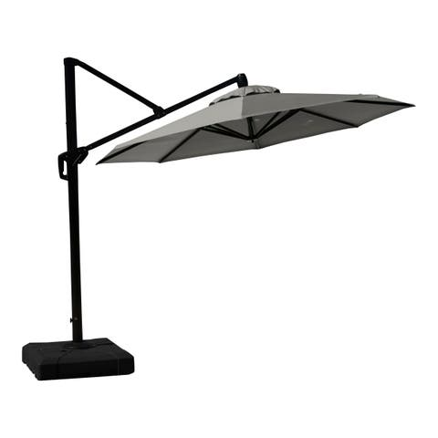 RST Brands Modular Outdoor 10-foot Round Umbrella in Charcoal Grey