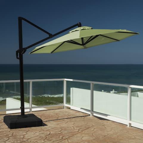 RST Brands Modular Outdoor 10-foot Round Umbrella in Ginkgo Green