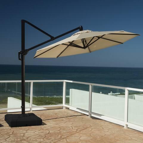 RST Brands Modular Outdoor 10-foot Round Umbrella in Slate Grey