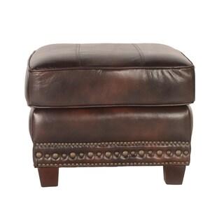 Lazzaro Leather Anna Toblerone Ottoman
