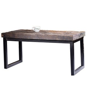 Arbor reclaimed wood and cast iron coffee table free for Cast iron outdoor coffee table