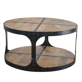 Phillips wood and cast iron coffee table free shipping for Cast iron outdoor coffee table