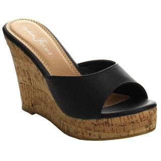 Beston EA52 Women's Platform Wedge Sandals