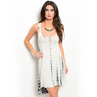 Shop the Trends Women's Sleeveless Tie-dye Jersey Knit Dress With Scooped Neckline