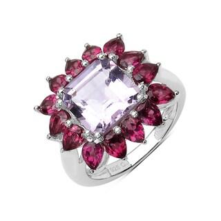 Olivia Leone 6.00 Carat Genuine Amethyst .925 Sterling Silver Ring