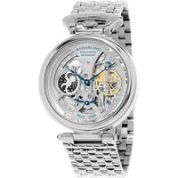 Stuhrling Original Men's Legacy Automatic Skeleton Stainless Steel Bracelet Watch - silver