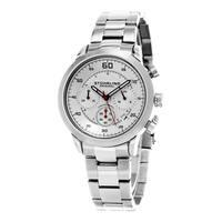 Stuhrling Original Men's Monaco Quartz Stainless Steel Bracelet Watch - silver