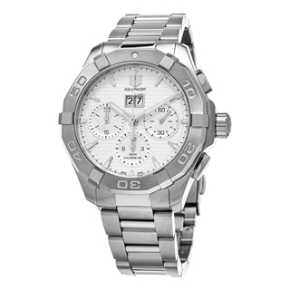 Tag Heuer Men's CAY211Y.BA0926 '300 Aquaracer' Silver Dial Stainless Steel Chronograph Swiss Automatic Watch