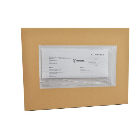 (4000 Pack) 9 x 12 Clear Plain Re-Closable Packing List Envelopes Bag