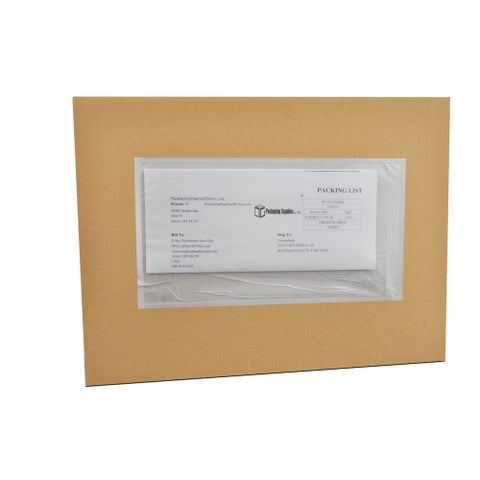 (3500) 9 x 12 Clear Plain Re-Closable Packing List Envelopes Bag Pack of 3500