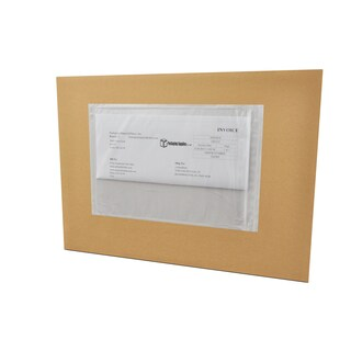 (10000) 6 x 6 Clear Plain Re-Closable Packing List Envelopes Bag Pack of 10000