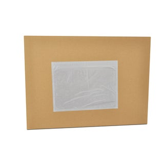2000 7.5 x 5.5 -INCH CLEAR PACKING LIST ENVELOPES PLANE FACE-TOP LOADED