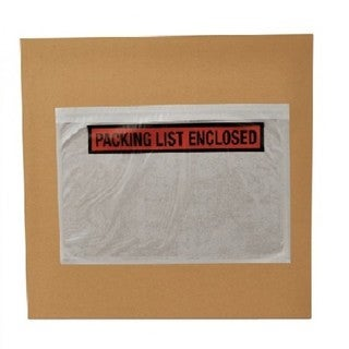 50000 Packing List Slip Enclosed Stickers 5.5 x 10 Panel Face