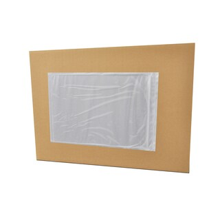 50000 7 x 10 -INCH CLEAR PACKING LIST ENVELOPES PLANE FACE-BACK SIDE LOADED