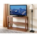 ABBYSON LIVING Sonoma Walnut Wood 3-tier TV Stand