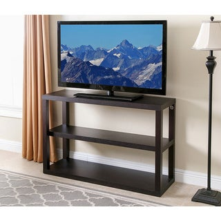 Abbyson Sonoma Espresso Wood 3 Tier TV Stand