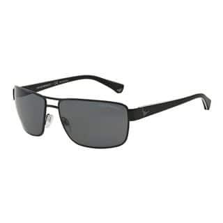 Emporio Armani Men's EA2031 310981 Black Metal Rectangle Polarized Sunglasses|https://ak1.ostkcdn.com/images/products/11043715/P18056652.jpg?impolicy=medium