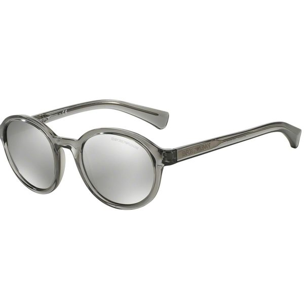 5e4870ea9638 Shop Emporio Armani Men s Grey Plastic Round Sunglasses - Free ...