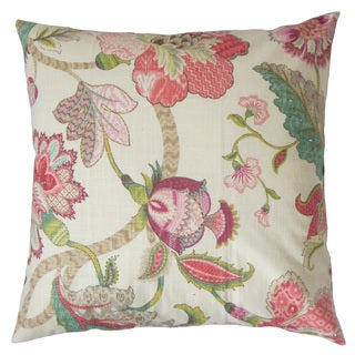 Juhani Floral Down and Feather Filled 18 - inch 18-inch Throw Pillow