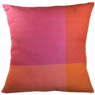 Handmade Purple Color Block Small Pillow (India)