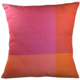 Handmade Purple Color Block Small Pillow (India)