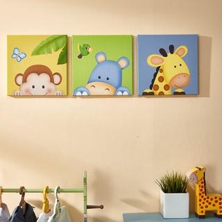 Fantasy Fields Sunny Safari Canvas Wall Art Set