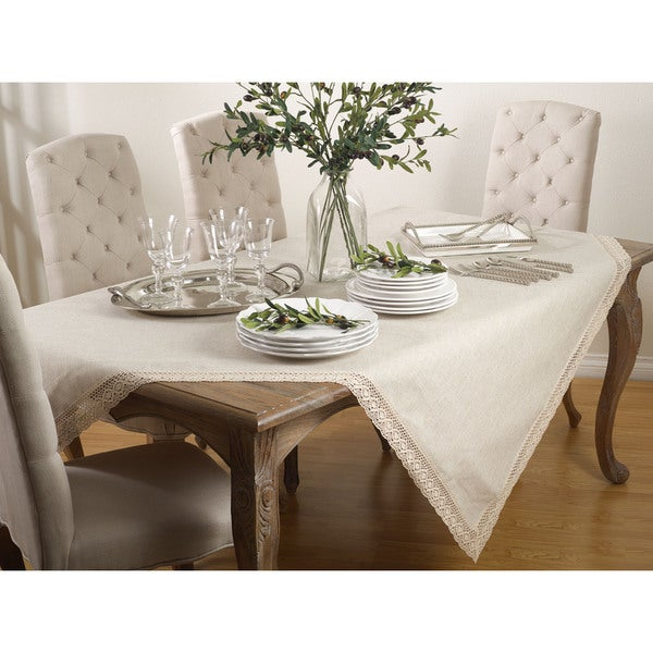 Classic Lace Border Tablecloth. Opens flyout.