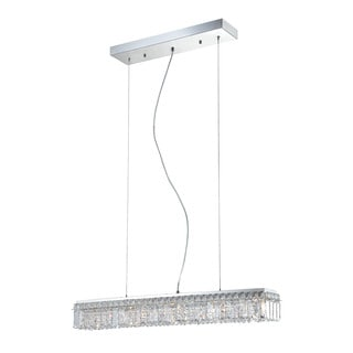 Alico Crown 5 Light Pendant In Chrome And Clear Crystal Glass