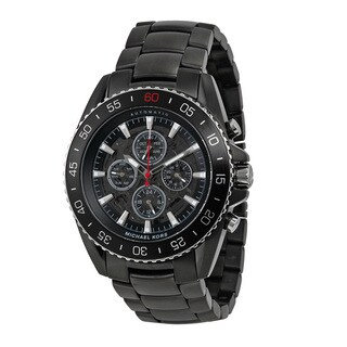 Michael Kors Men's MK8455 JetMaster Chronograph Black Carbon Fiber Bracelet Watch