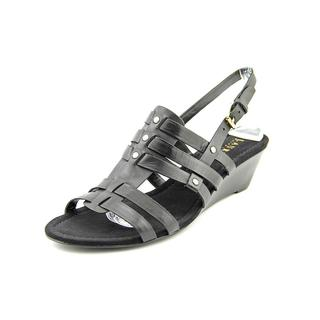 Ralph Lauren Women's 'Lucetta' Black Leather Sandals