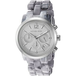 Michael Kors Women's MK6310 Audrina Grey Dial Grey Acetate Bracelet Watch