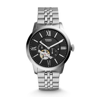 Fossil Men's ME3107 Townsman Automatic Black Dial Stainless Steel Bracelet Watch
