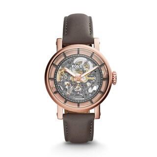 Fossil Women's ME3089 Original Boyfriend Automatic Skeleton Dial Grey Leather Watch