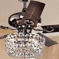 Angel 3-light Crystal 5-blade 43-inch Bronze Chandelier Ceiling Fan