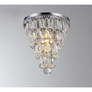 Kristal 1-light Crystal 9-inch Chrome Flush Mount