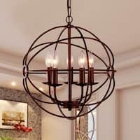 Theo 5-light Rust 17-inch Chandelier