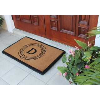 "First Impression Hanwoven Extra Thick Kepano Abstract Circle Doormat,Large Size,24""X39"""