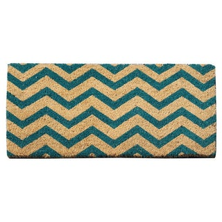 First Impression Callie Blue Chevron Entry Mat