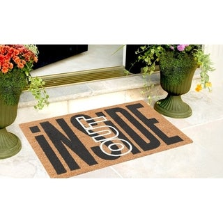 First Impression Inside Out Coir Entry Fade Resistant Flocked Doormat