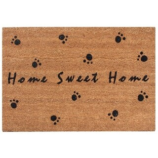 First Impression Home Sweet Home fade resistant Flocked Coir Large Door Mat (2' x 3')
