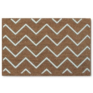 First Impression Rosway Chevron Flocked Mat