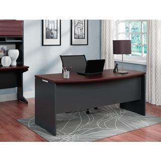 Ameriwood Home Pursuit Cherry/ Grey Executive Desk
