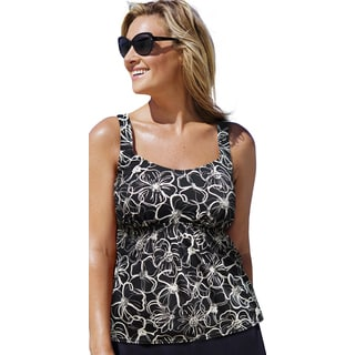 Beach Belle Women's Midnight Flower Flared Top