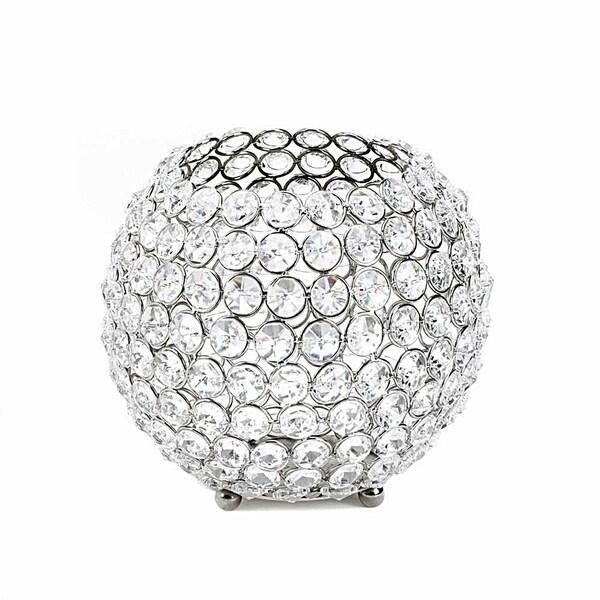 Sparkling Crystal Globe Candle Holder