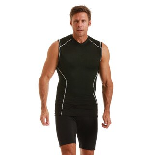 Insta Slim Men's Compression Sleeveless V-Neck Shirt