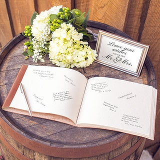 Personalized Leather Guestbook Journal